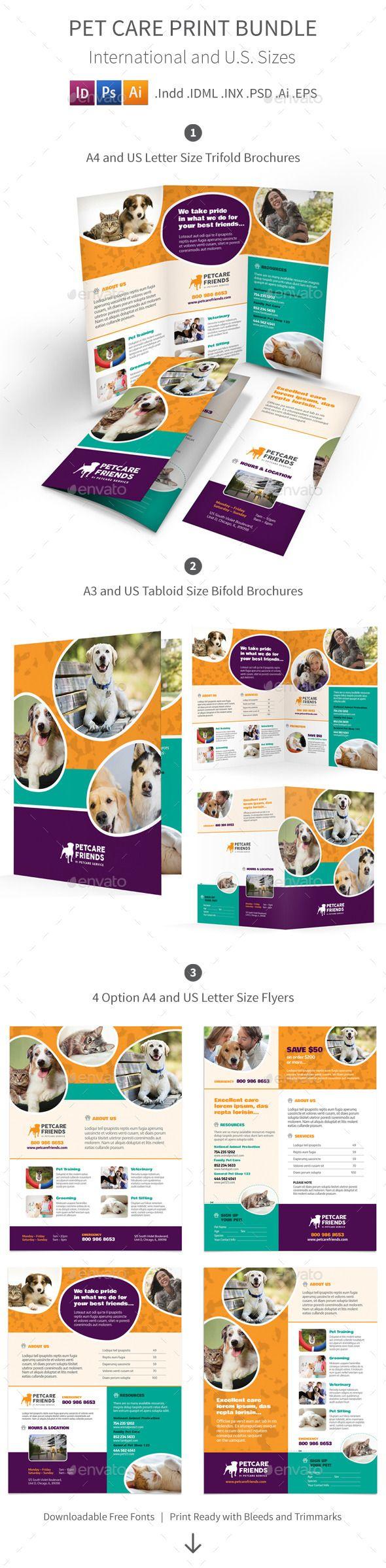 Pet Care Print Bundle Brochure Template Brochures And Template - Informational brochure template
