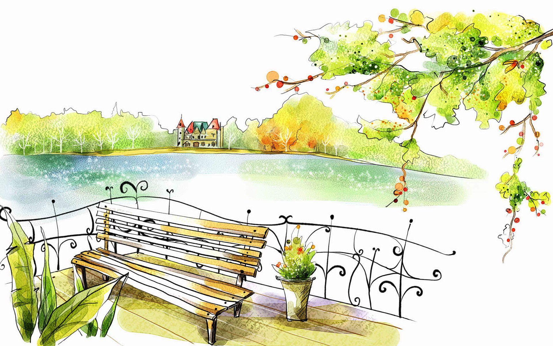 Рисунки в парке картинки