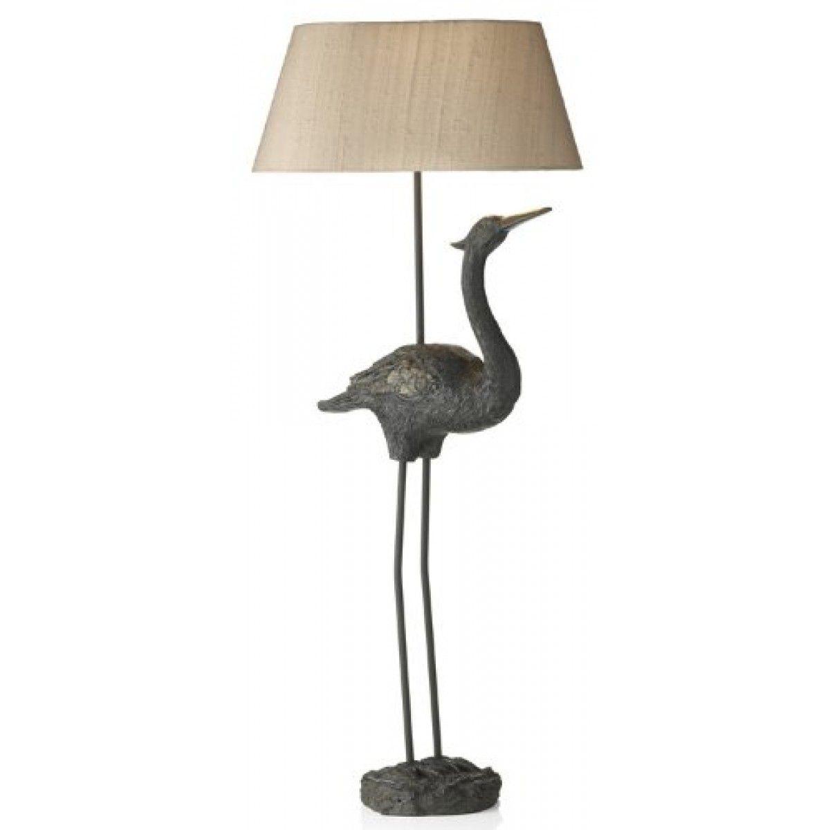 Beautiful Hand Made Bronze Finish Heron/ Stork Table Lamp BIR4322