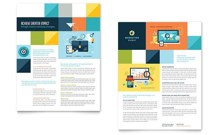 Advertising Company Datasheet Template Design Design Template Design Flyer Design