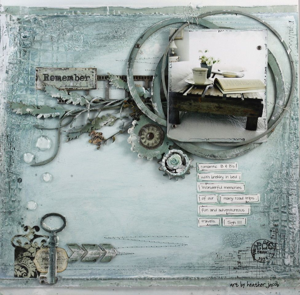 Remember - Scrapbook.com. Another gorgeous lo by Heather Jacob