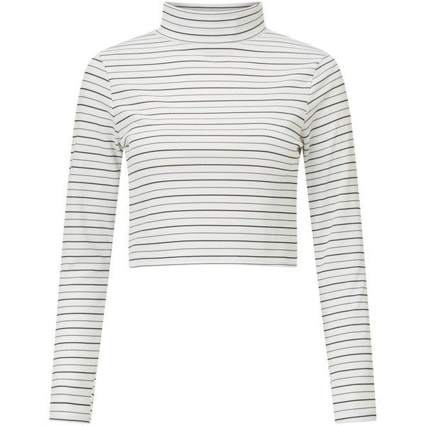 21467362faa Miss Selfridge Petite Striped Roll Neck T-Shirt (289.540 IDR) ❤ liked on Polyvore  featuring tops, t-shirts, petite, striped long sleeve tee, print t shirts  ...