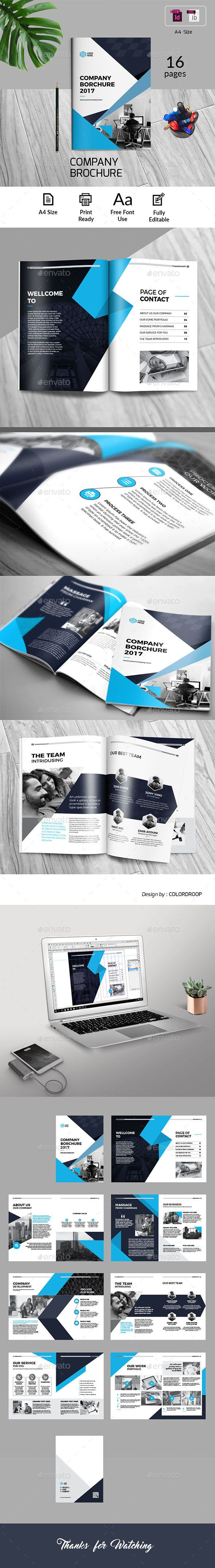 Company Brochure — InDesign INDD #a4 #brochure templates • Available ...