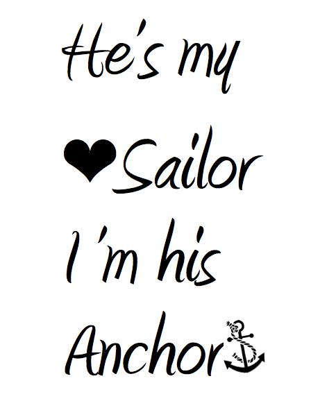 Sailor Love Quotes : sailor, quotes, Sailor, Anchor, Zazzle.com, Quotes,, Girlfriend, Quotes