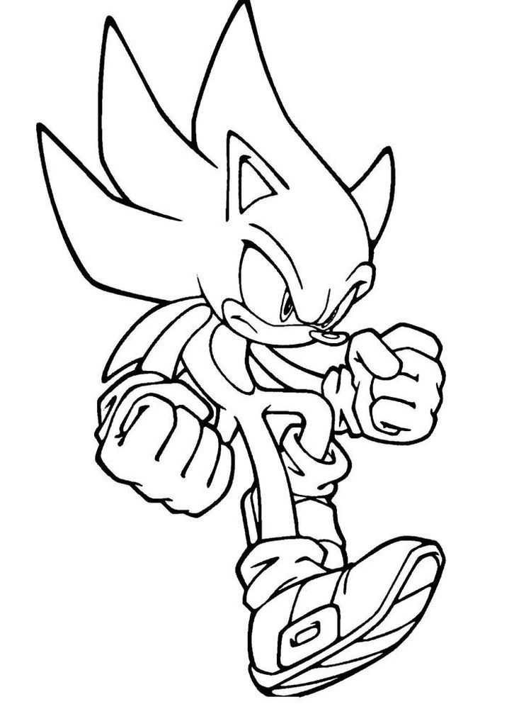 Sonic The Hedgehog Coloring Pages To Print When Viewed From Its Appearance Hedgehogs Are Similar To Mice But Hedgehog Colors Fox Coloring Page Coloring Pages