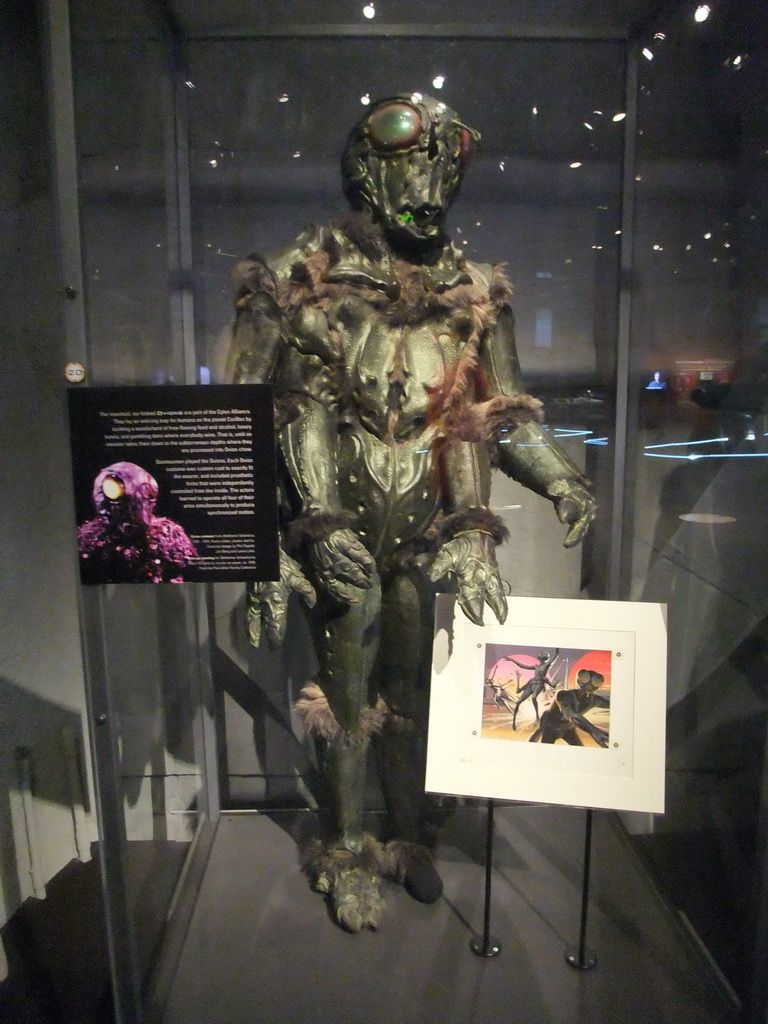 Ovion costume from the 1978 Battlestar Galactica series at the Experience Music Project Science Fiction Museum