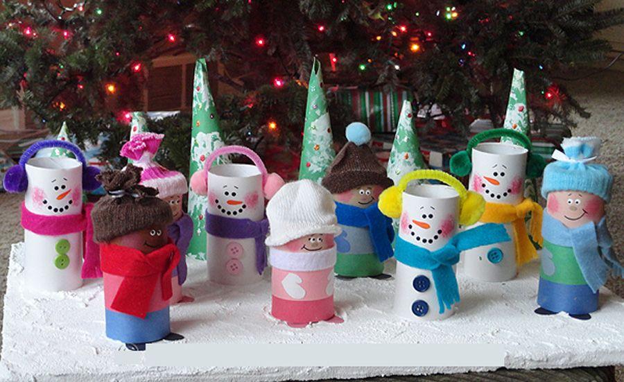 Adornos de navidad con rollos de papel higienico buscar - Adornos navidenos con rollos de papel higienico ...