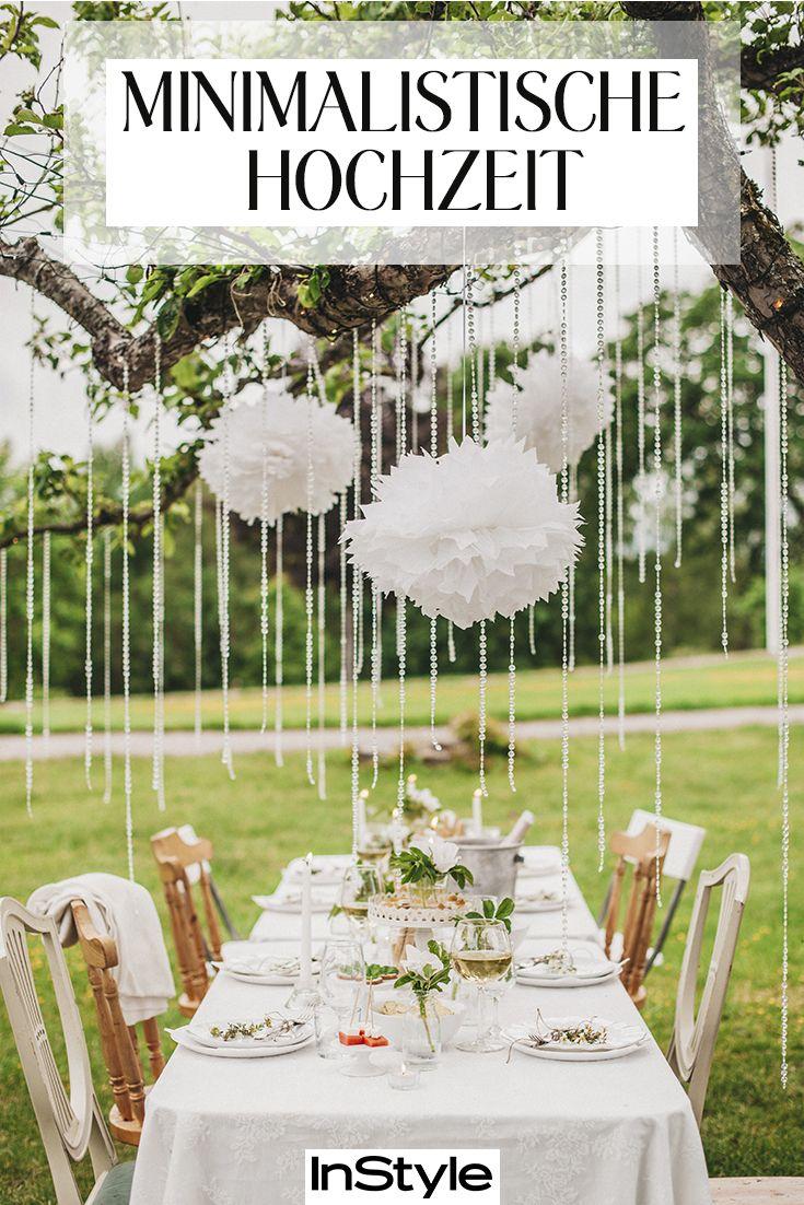 Minimalistische Hochzeit im Garten