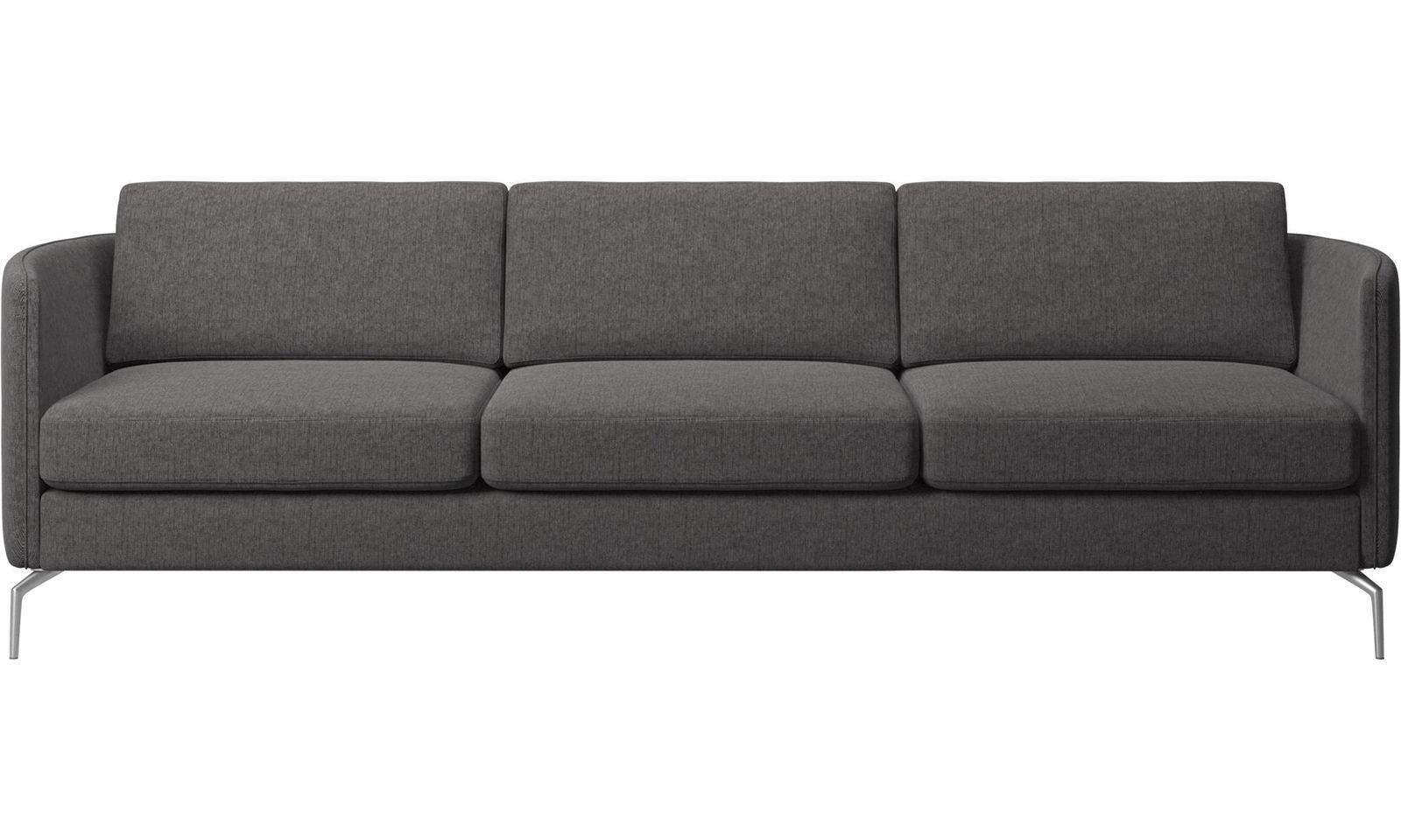 3 Seater Sofas Osaka Sofa Regular Seat Grey Fabric Nv