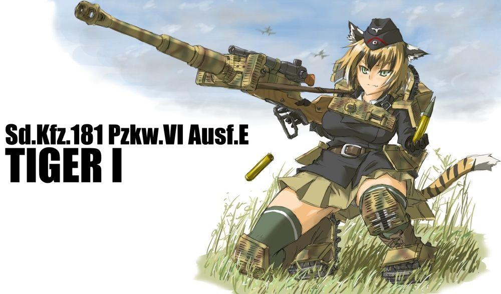 Pzkw Vi Aust E Tiger I Anime Tank Tank Girl Anime Warrior