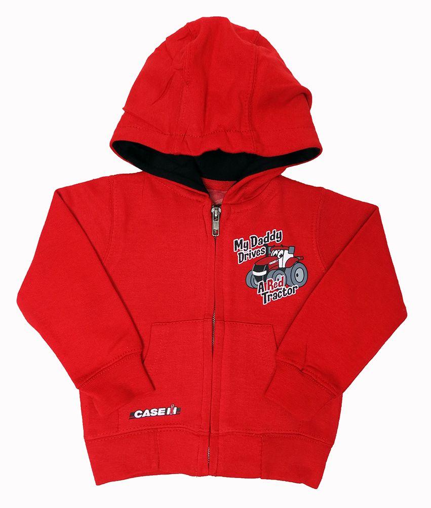 Case Ih My Daddy Drives A Red Tractor Zip Up Hoodie Hoodies Zip Ups Hooded Jacket