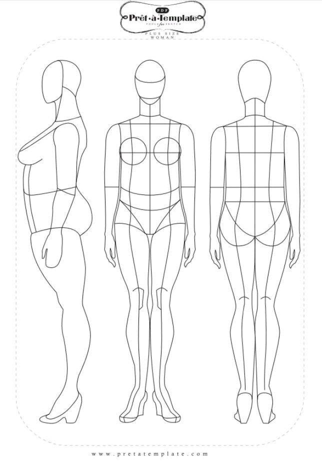 face - base - corpo - croqui. basic - sketch of fashion - face- drawing - plus size