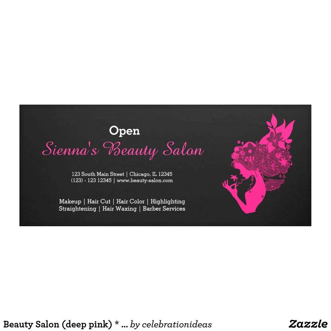 Beauty Salon Deep Pink Choose Background Color Banner Zazzle
