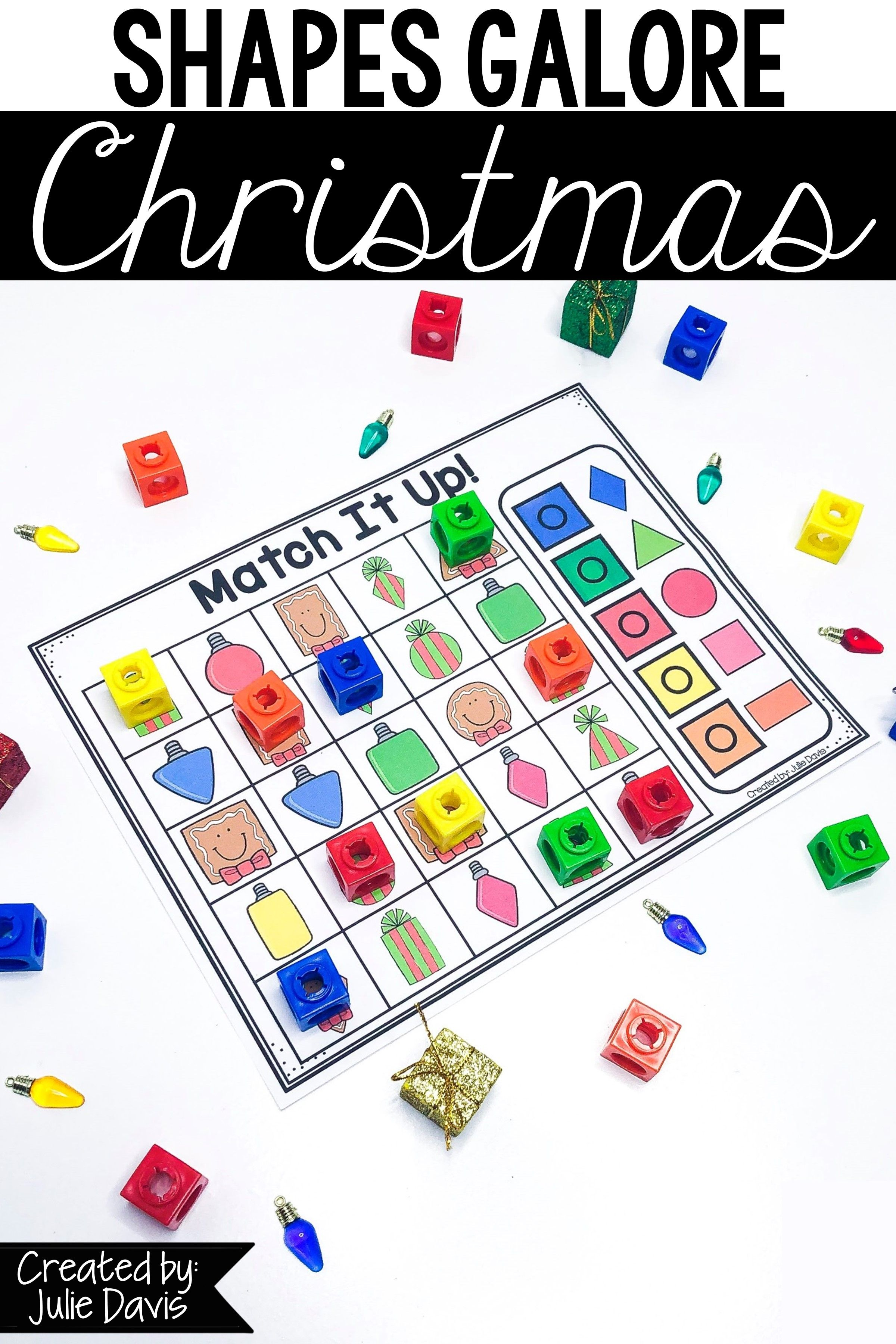 Christmas 2d Shapes Games And Activities