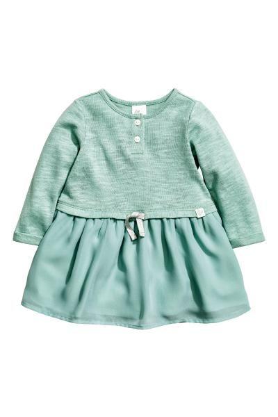 Dress with a chiffon skirt | H&M