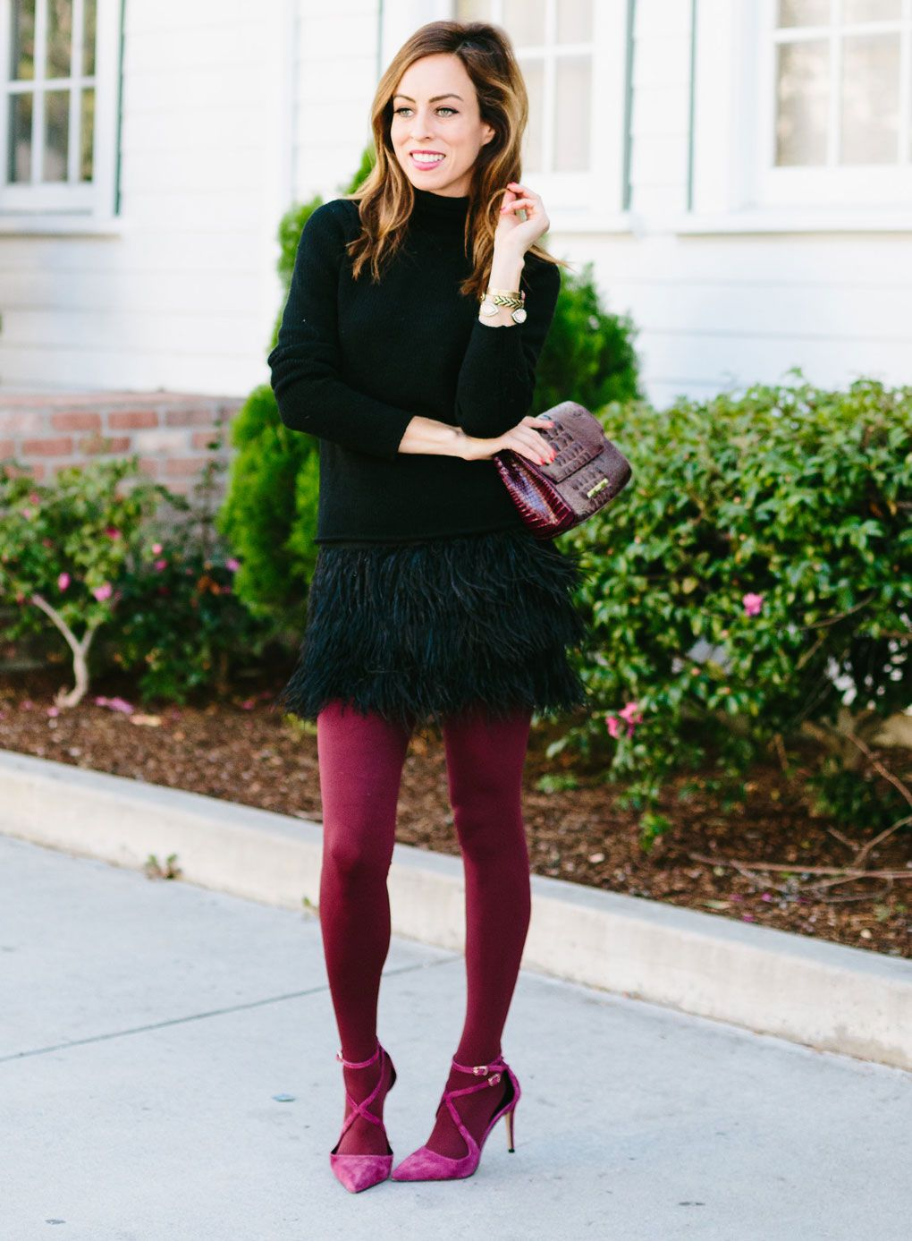dbf3c0ee449 Two Holiday Party Outfit Ideas with Tights