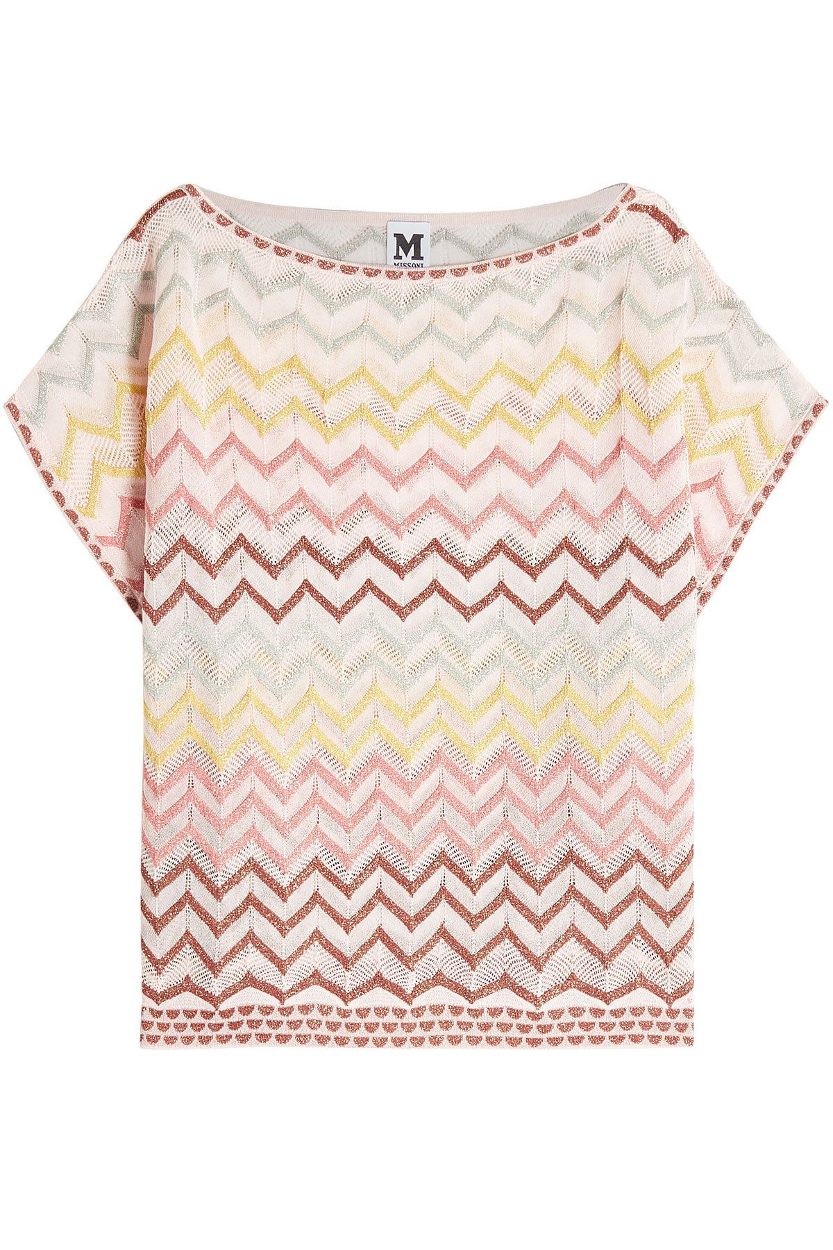 030a455576d4 M MISSONI KNIT TOP WITH COTTON AND METALLIC THREAD.  mmissoni  cloth