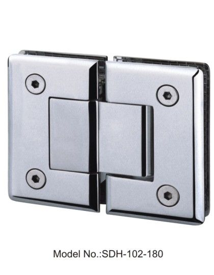 180 Degree Glass To Glass Shower Door Hinges Satin And Lacqueredsdh
