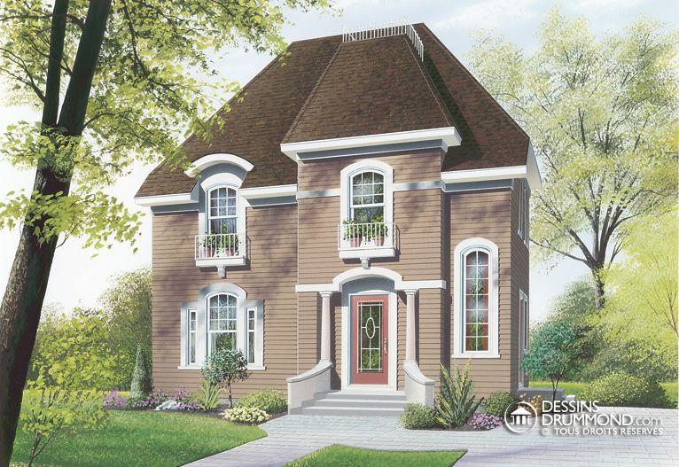 house_plan_maison_etage_2_stories_W2711 Plans De Maison Pinterest - dessiner plan de maison