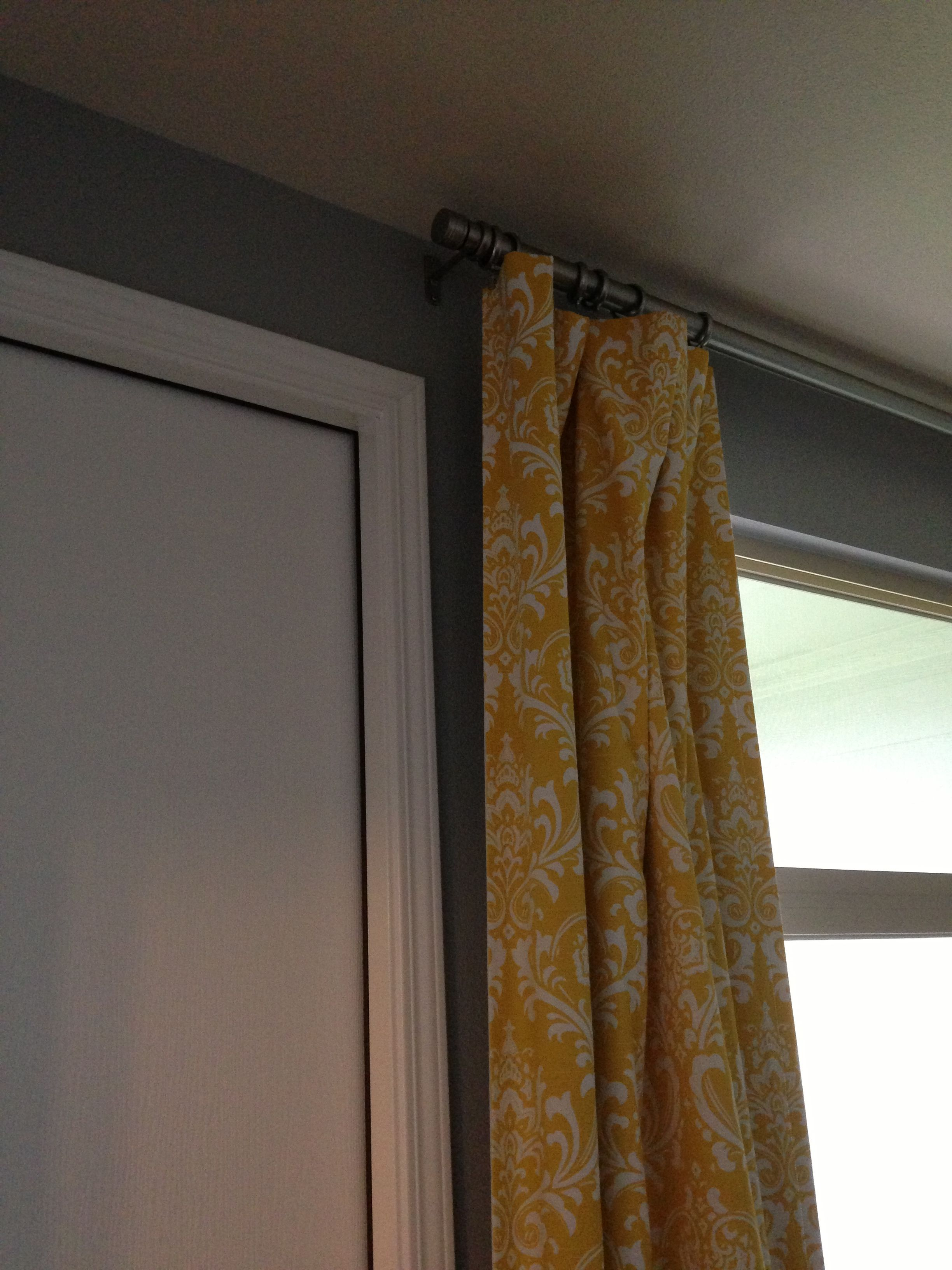 Yellow Curtains On Light Grey Wall I