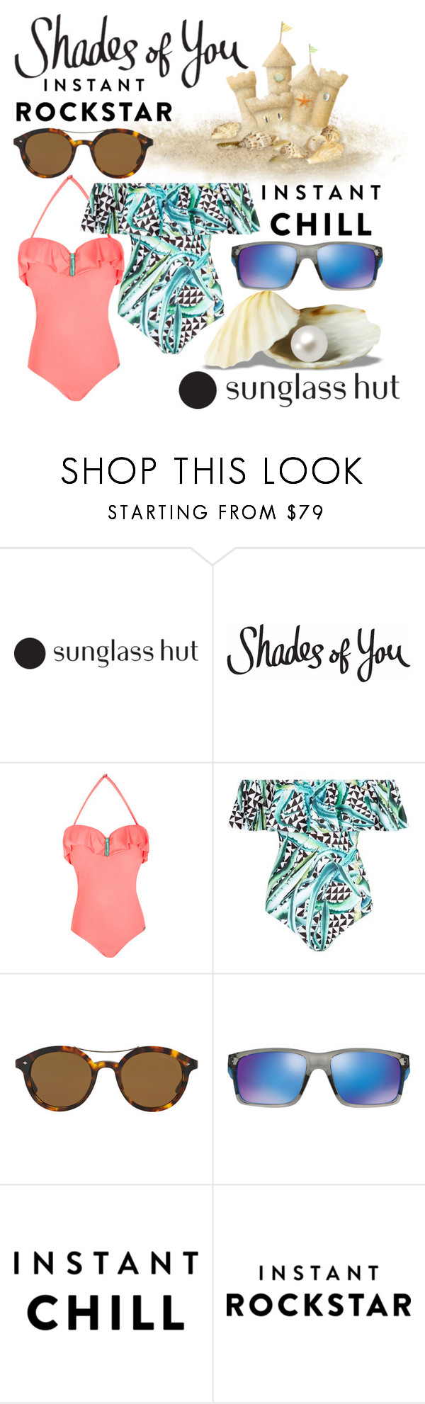 """""""Shades of You: Sunglass Hut Contest Entry"""" by ffendi ❤ liked on Polyvore featuring Mara Hoffman, Giorgio Armani, Oakley and shadesofyou"""