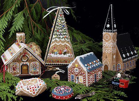 Gingerbread Village   Victoria Sampler   Cross Stitch, Blackwork ...