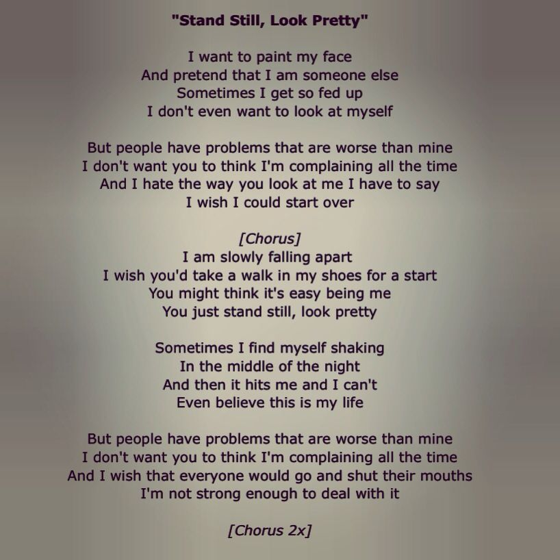 Lyric look up song by lyrics : Stand Still, Look Pretty by The Wreckers | Songs For Life ...