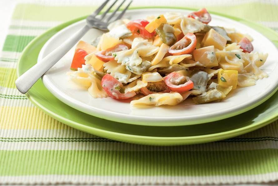 Kijk wat een lekker recept ik heb gevonden op Allerhande! Pastasalade met snijbonen en kaas