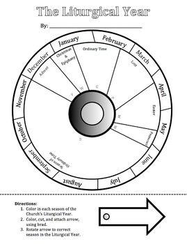 Free Printable Catholic Liturgical Calendar : printable, catholic, liturgical, calendar, Liturgical, Calendar, Wheel, Calendar,, Catholic