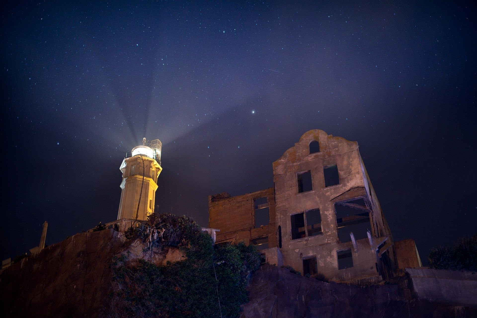 """""""Lighthouse at Night"""" image by Jean Beaufort https://www ..."""