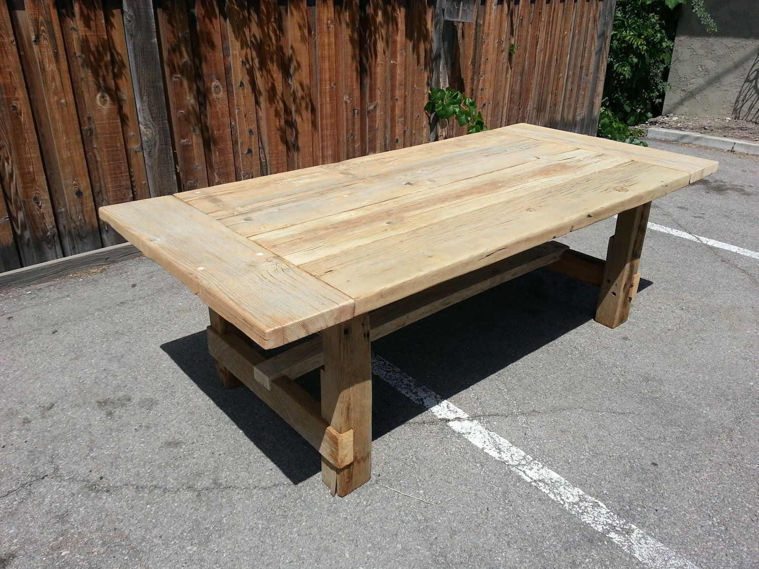 Farmhouse Salvaged Reclaimed Wood Rectangular Table Similar To Restoration Hardware Design But Not Made In China 1 500 00 Via Etsy