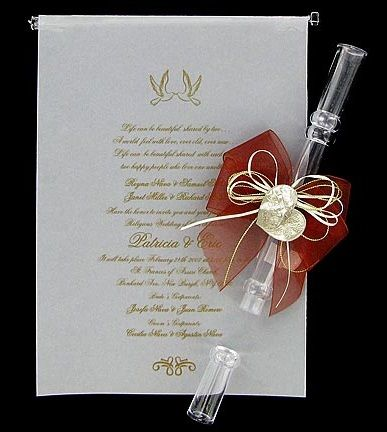 Invitation Scroll Tube with Bow QuinceaneraSweet 16 Pinterest