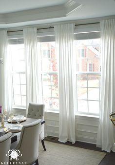 The Favorite White Budget-Friendly Curtains | Cortinas transparentes ...