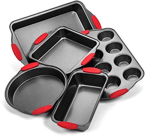 Elite Bakeware Ultra Nonstick Baking Pans Set Of 5 Premium