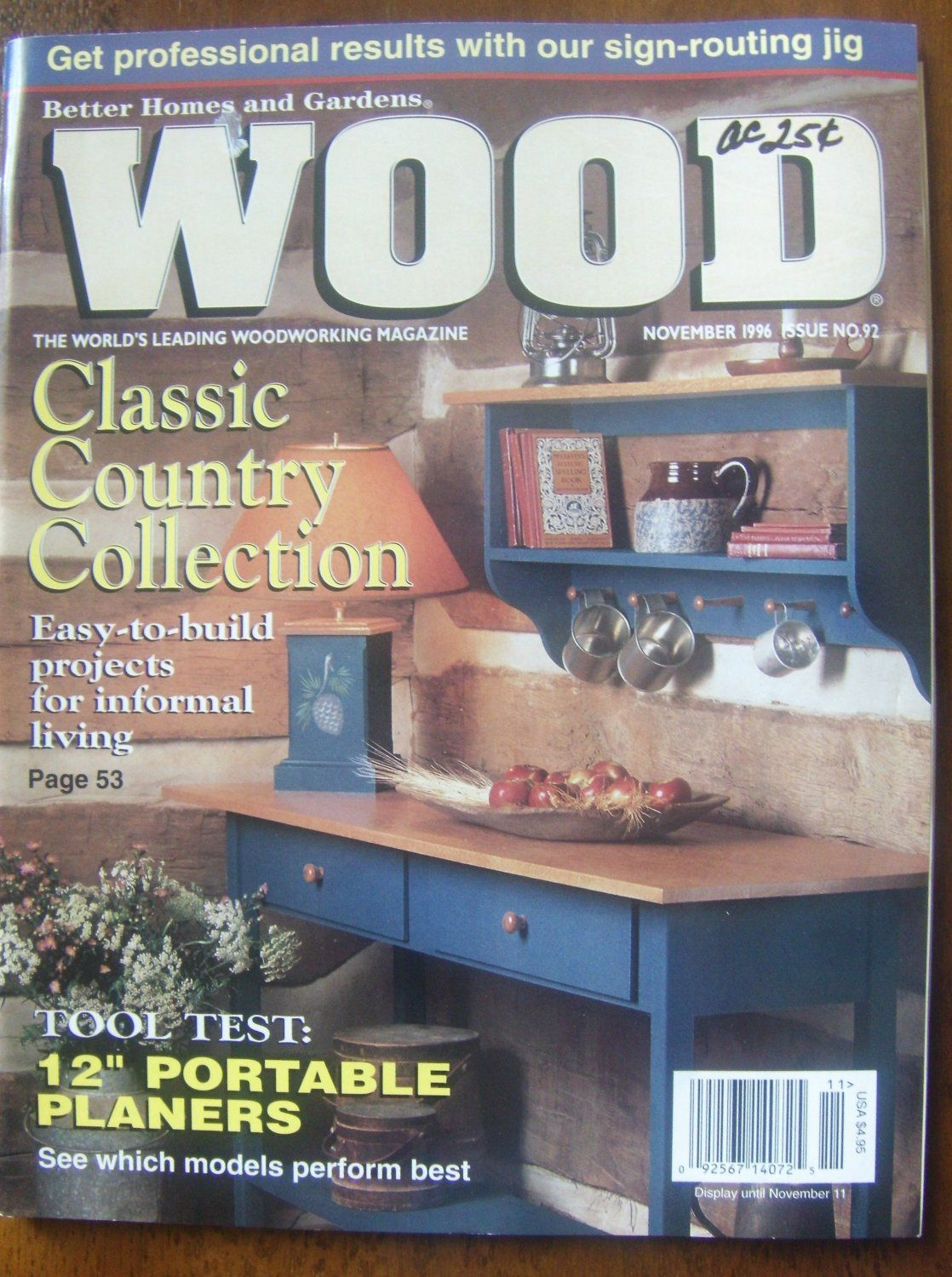 Better Homes U0026 Gardens Wood # 92 November 1996 Magazine Back Issues  If You  Are Not Buying From Me, Your Paying To Much! Ebay Alternative Site.