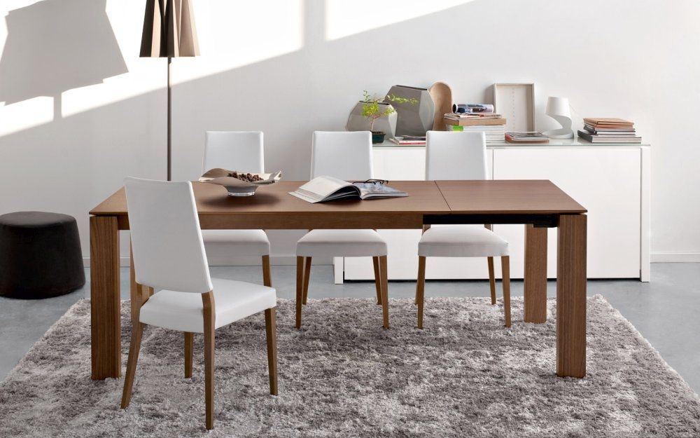 Calligaris Sigma M Modern Drop Leaf Wooden Extending Dining Table
