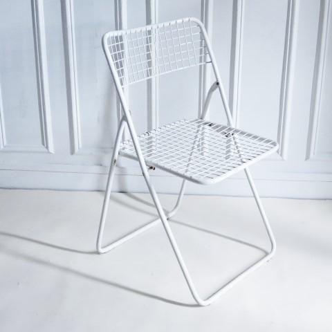 Chaise Ted Net Blanche Niels Gammelgaard Ikea Vintage Chaise Pliante Chaise Mobilier De Salon