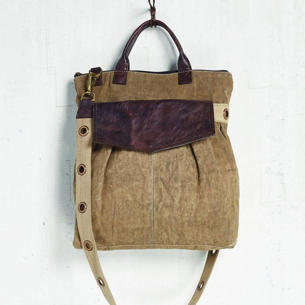 Wrangler Tote | Fashion | Canvas messenger bag, Bags, Leather handle
