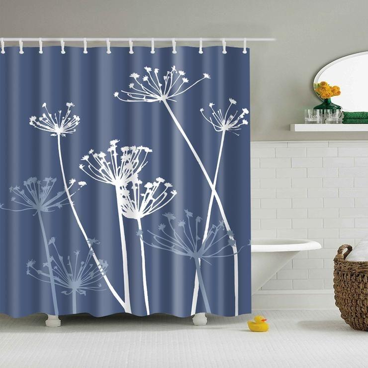 Elegance Thistle Dandelion Shower Curtain Fabric Nature Bathroom Decor Elegant Shower Curtains Fabric Shower Curtains Custom Curtains