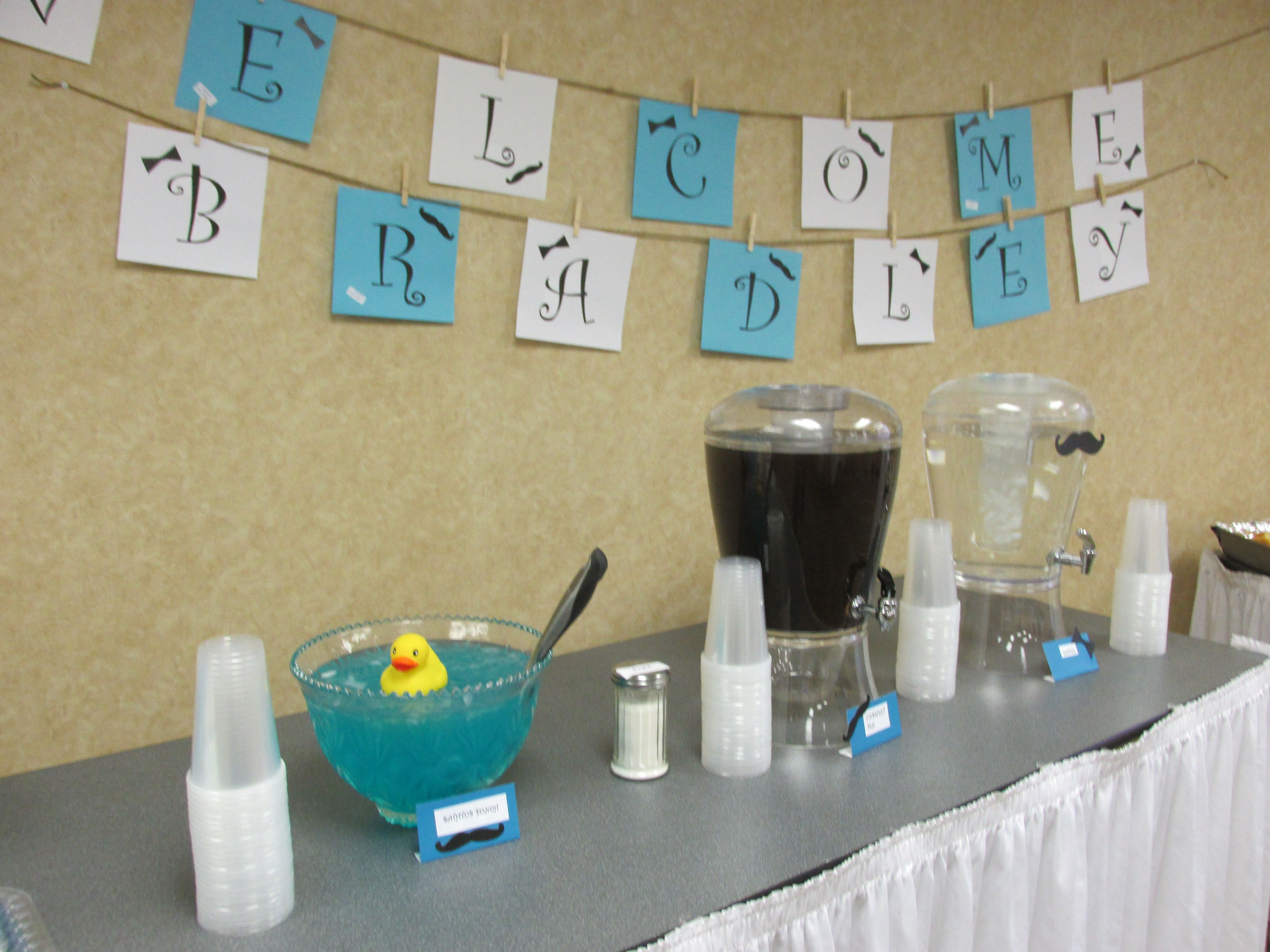 Little Gentleman Baby Shower Drinks Included Blue Bathtub Punch (50/50  Hawaiian Punch And