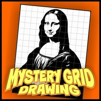 Mystery Grid Drawing - Mona Lisa | Portrait, Draw and Art worksheets