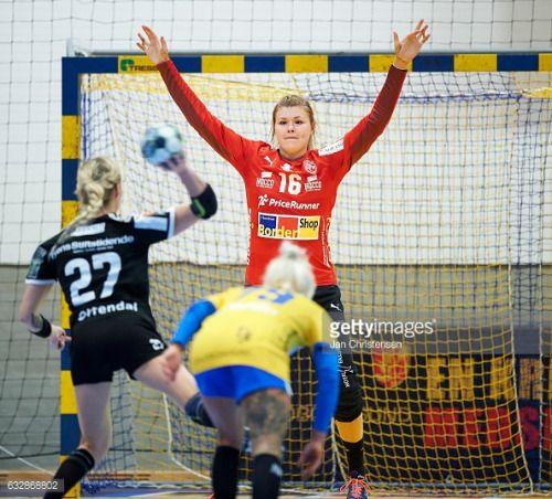 02-24 NYKOBING FALSTER, DENMARK - JANUARY 25: Goalkeeper Ditte... #nykobingsjaelland: 02-24 NYKOBING FALSTER, DENMARK -… #nykobingsjaelland