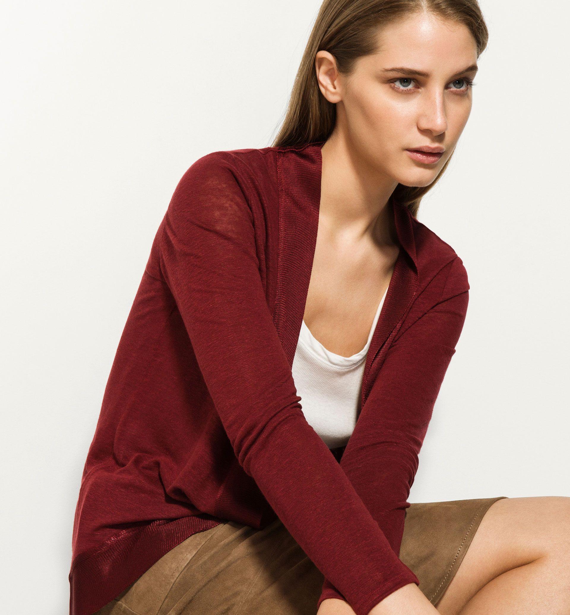 LINEN CARDIGAN - View all - Knitwear - WOMEN - Denmark - Massimo ...