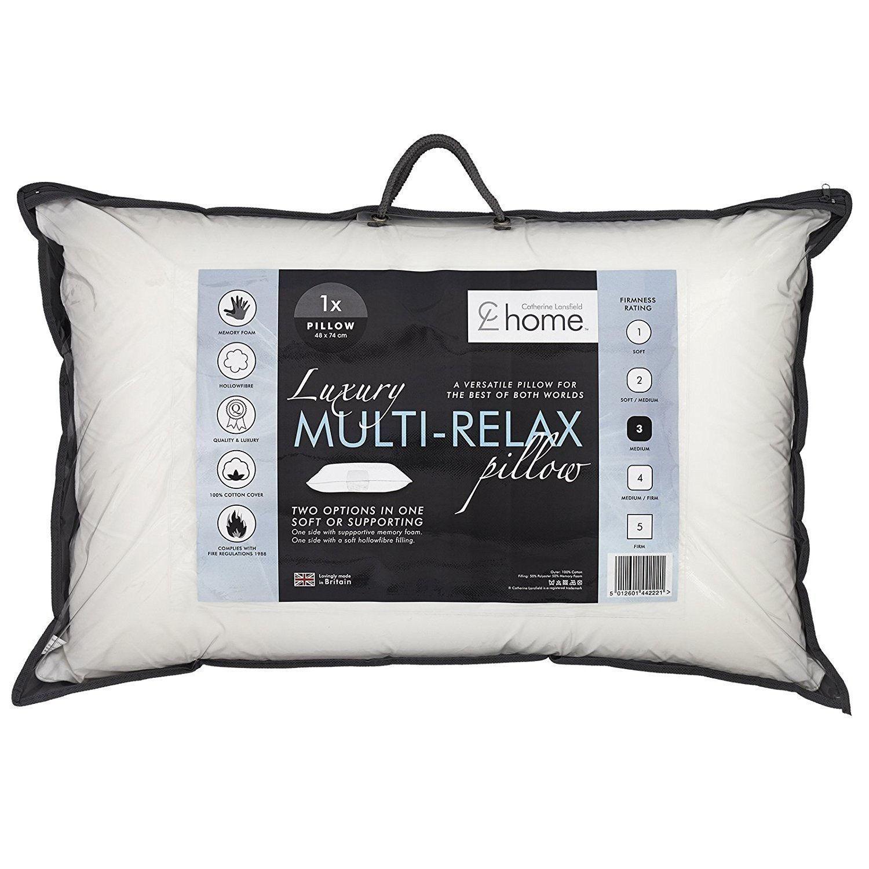 Catherine Lansfield Home Luxury Multi Relax Pillow Catherine Lansfield Support Pillows Hotel Pillows