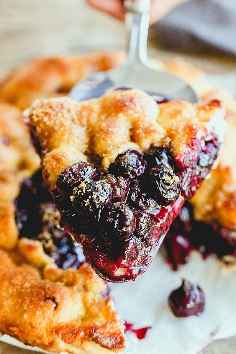 Simple Rustic Blueberry Tart Food recipes, Tart recipes