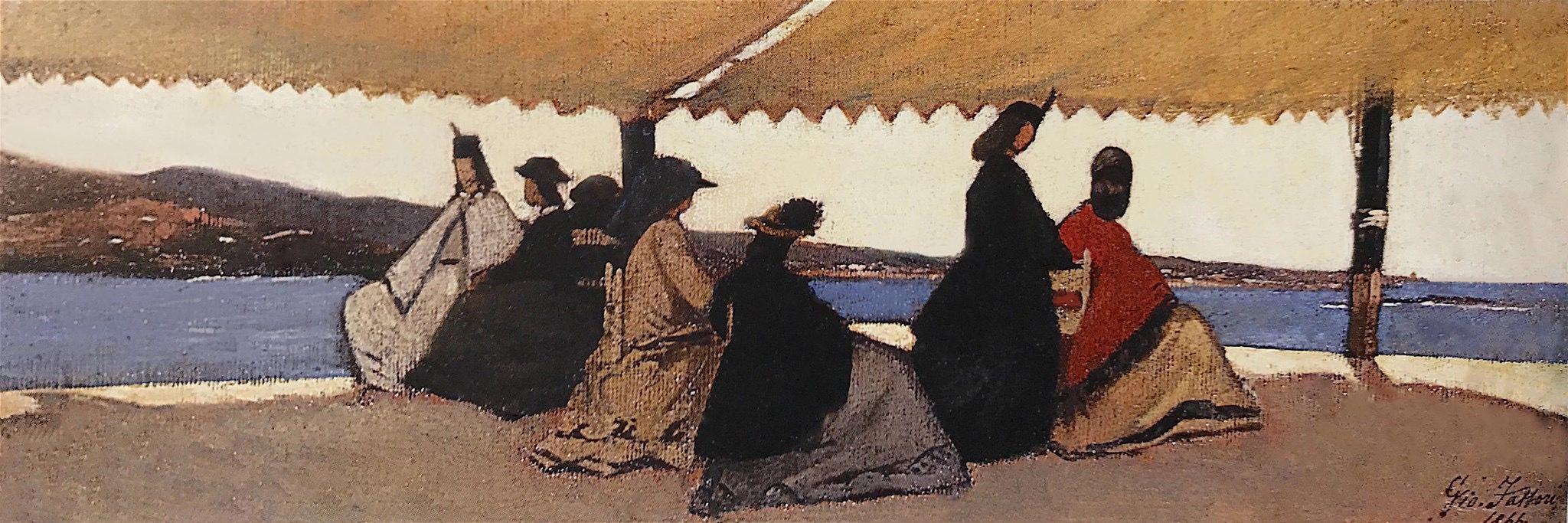 Giovanni Fattori  (Livorno 1825 - Firenze 1908) Le Rotonda di Palmieri, 1866  Firenze, Galleria d'Arte Moderna, Palazzo Pitti