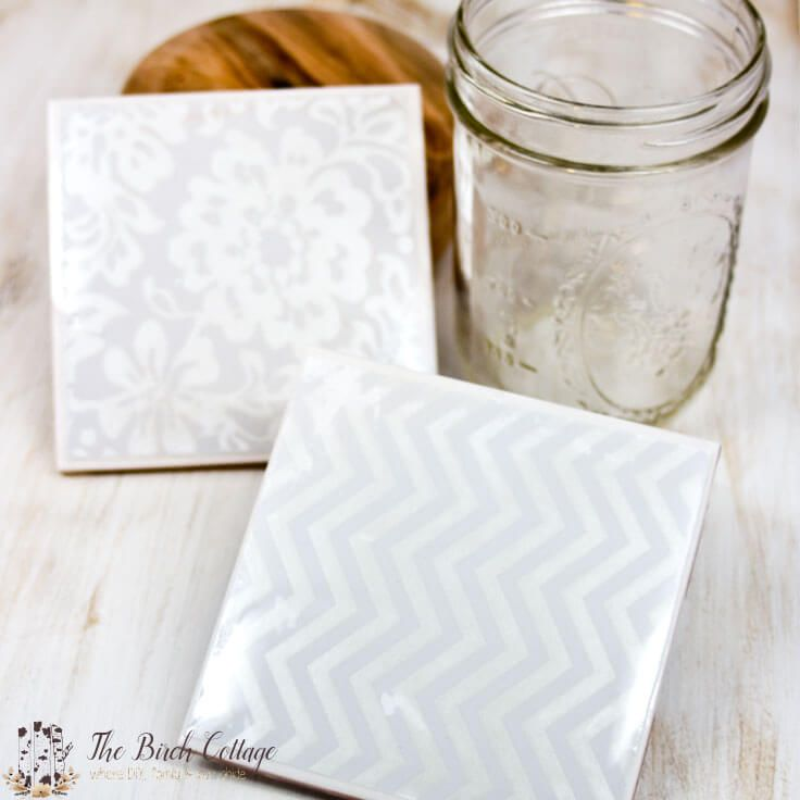 How To Make Coasters From Ceramic Tiles Pinterest Coasters - Ceramic tile scraps