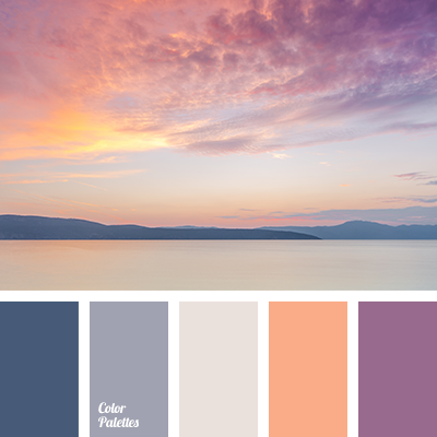 Violet C White Slate Blue Deep Color Palette 3384