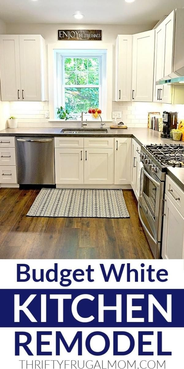 Budget Friendly Classic White Kitchen Remodel (all the details