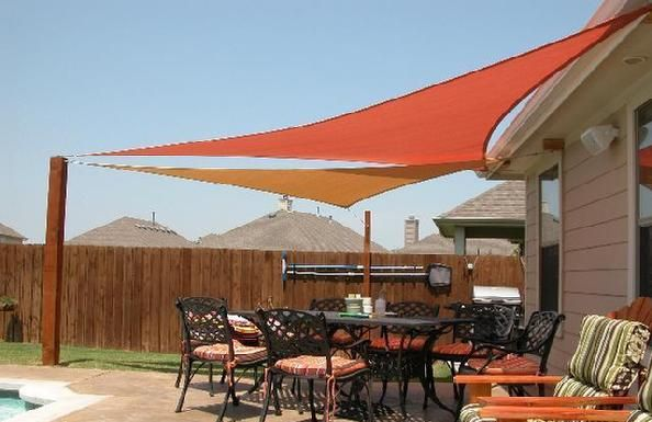 Right Triangle Shade Sails Exterior Ideas Unedited In